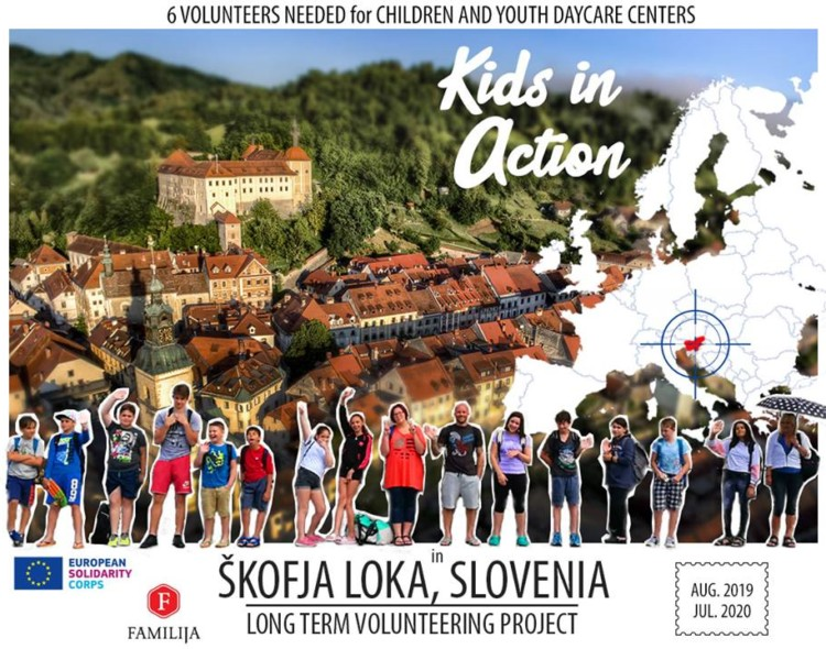"""Kids in Action 6"" EVS in Škofja Loka, Slovenia"