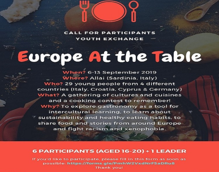 EAT - Europe At the Table Y/E in Allai, Sardinia, Italy |6-13 September 2019