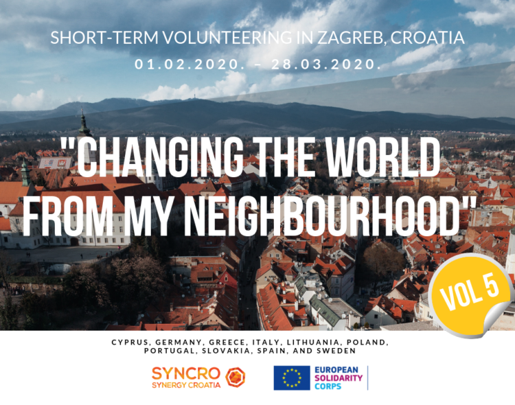 "Short-term ESC opportunity- Zagreb, Croatia. ""Changing the world from my neighborhood"""